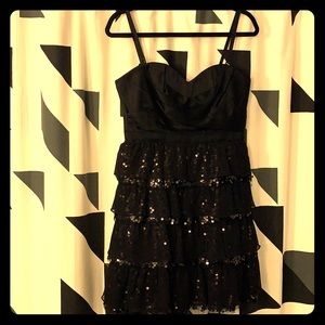 BCBGMAXAZRIA black formal dress with sequins
